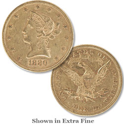 1880-S Liberty Head $10 Gold