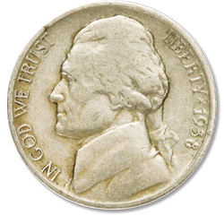 1938-S Jefferson Nickel