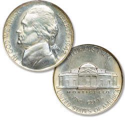 1942 Jefferson Nickel