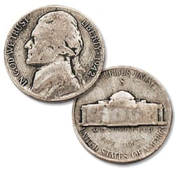 1942-S Jefferson Wartime Silver Alloy Nickel