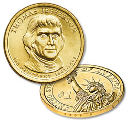 2007-P Thomas Jefferson Presidential Dollar