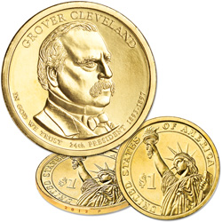 2012-P Grover Cleveland (Term 2) Presidential Dollar