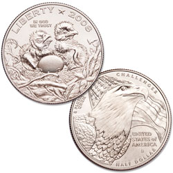 2008-S Clad Bald Eagle Half Dollar
