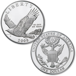 2008-P Bald Eagle Silver Dollar Commemorative