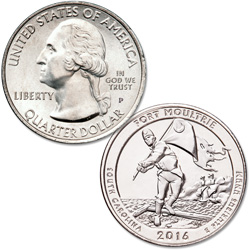 2016-P Fort Moultrie (Fort Sumter National Monument) Quarter