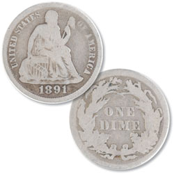 1891 Liberty Seated Dime