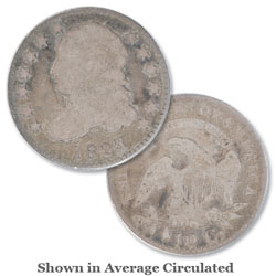 1823 3/2 Capped Bust Silver Dime, Small E's