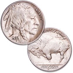 1937-D Buffalo Nickel, 3-Legged Variety
