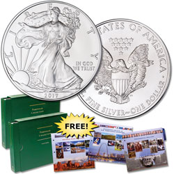 2017 $1 Silver American Eagle with Club Enrollment