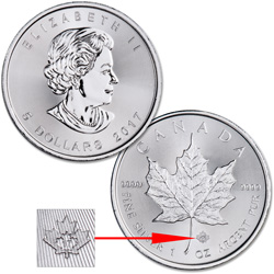 2017 Canada Silver $5 Maple Leaf