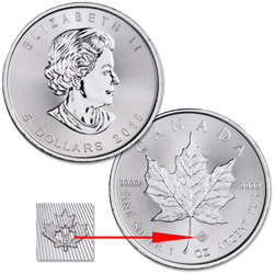 2018 Canada Silver $5 Maple Leaf