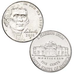 2018-P Jefferson Nickel