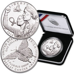 2018-P Breast Cancer Awareness Commemorative Silver Dollar