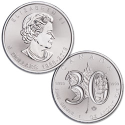 2018 Canada 30th Anniversary Silver $5 Maple Leaf