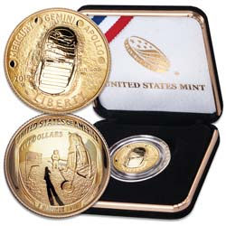 2019-W Apollo 11 Moon Landing 50th Anniversary Commemorative Gold $5