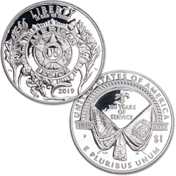 2019-P American Legion 100th Anniversary Commemorative Silver Dollar