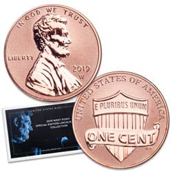 2019-W Lincoln Head Cent, Reverse Proof