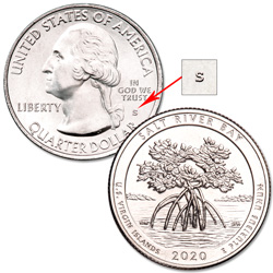 2020-S Unc. Salt River Bay National Historical Park & Ecological Preserve Quarter