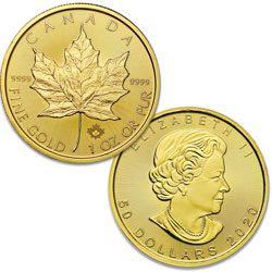 2020 Canada Gold 1 oz. $50 Maple Leaf