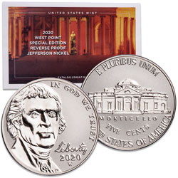 2020-W Reverse Proof Jefferson Nickel
