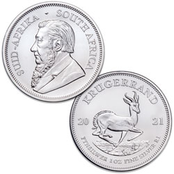 2021 South Africa 1 oz. Silver 1 Rand Krugerrand