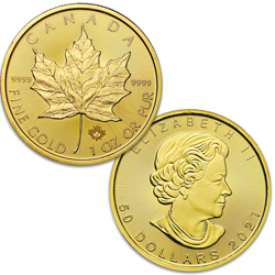 2021 Canada Gold 1 oz. $50 Maple Leaf