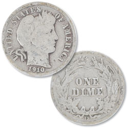 1910-D Barber Silver Dime