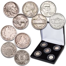 150th Anniversary Nickel Type Set