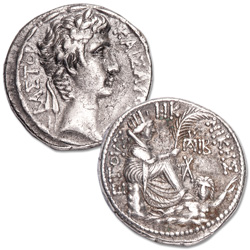 27 B.C. - A.D. 14 Augustus Silver Tetradrachm of Antioch, Year 28