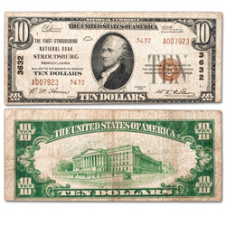 1929 $10 National Bank Note, Type 2