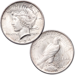 1921-1935 Peace Silver Dollar with Enrollment