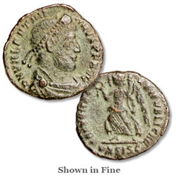A.D. 364-375 Valentinian I Bronze Reduced Follis