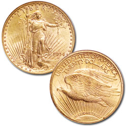 1908-1933 Saint-Gaudens $20 Gold Double Eagle