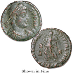 A.D. 364-378 Valens Bronze Reduced Follis
