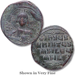 A.D. 969-976 John I Bronze Follis Christ