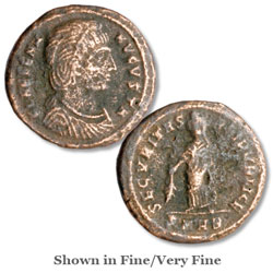 A.D. 324-330 Helena Bronze Reduced Follis