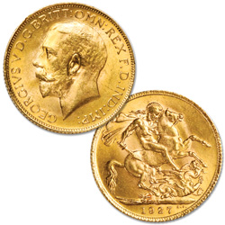 1911-1932 Great Britain Gold Sovereign, King George V, Circulated