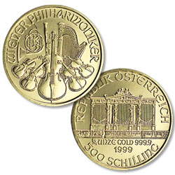 1989-2001 Austria Gold 500 Schilling Philharmonic in Air-Tite