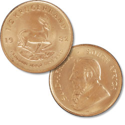 South Africa 1/2 oz Gold Krugerrand in Air-Tite