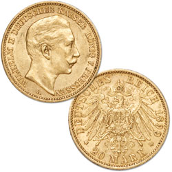 1888-1915 Germany Gold 20 Marks