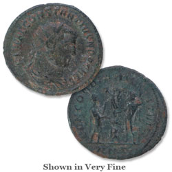 A.D. 305-306 Constantius I Bronze Reduced Follis