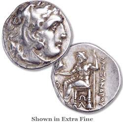 322-275 B.C. Alexander The Great Posthumous Silver Drachm