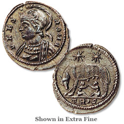 A.D. 330-335 Constantine The Great Bonze Follis