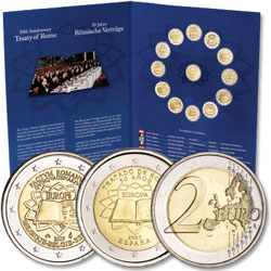 2007 2 Euro Treaty of Rome Set (13 coins)