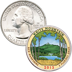 2013 Colorized White Mountain National Forest Quarter