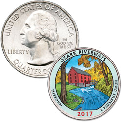 2017 Colorized Ozark National Scenic Riverways Quarter