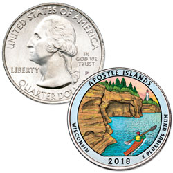 2018 Colorized Apostle Islands National Lakeshore Quarter