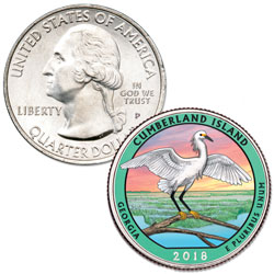 2018 Colorized Cumberland Island National Seashore Quarter
