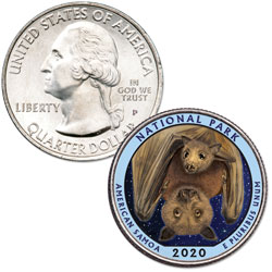 2020 Colorized National Park of American Samoa Quarter