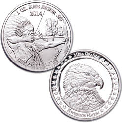 2014 Mesa Grande Sovereign Nation $5 Silver Archer & Eagle